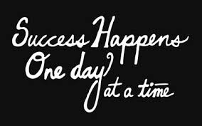 One Day At A Time by Success Happens One Day At A Time Doodleosophies