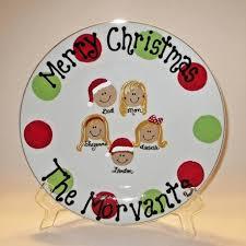 christmas plate polka dot christmas plate with faces