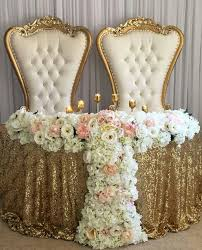 bride and groom sweetheart table bride and groom table white and gold soki pinterest gold