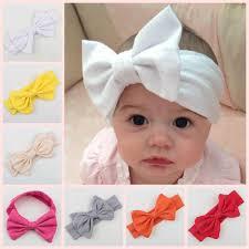 baby hair band 2015 infant bow headbands girl cotton headwear big bow hair flower