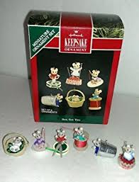 hallmark miniature keepsake ornament set of 6 tiny