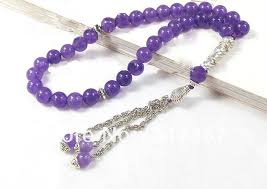 purple rosary purple aaa amethyst 33 prayer islamic