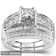 overstock bridal sets wedding favors awesome diamond ring wedding sets cubic zirconia