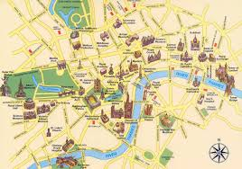 Travel Map Of Europe by Large Tourist Map Of London City Center London United Kingdom
