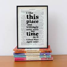 personalised quote gifts personalised housewarming shakespeare book print gift