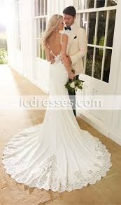 low back wedding dresses low back wedding gowns v neck shiny beaded wedding dresses mermaid