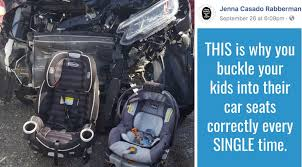 this is why you buckle your kids into their car seats u0027 mom u0027s car