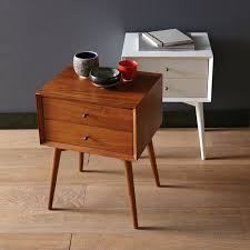 MidCentury Nightstand White West Elm - West elm mid century bedroom furniture
