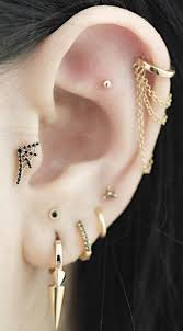 earrings with chain ear cartilage these 30 ear piercing ideas helix hoop ear piercings and