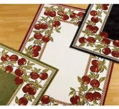 Apple Kitchen Rugs Amazon Com Apple Border Rug 19