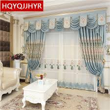 royal blue bedroom curtains luxury royal blue embroidered high shade curtains for villa living