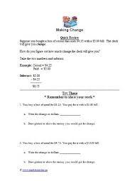 all worksheets making change worksheets free free printable