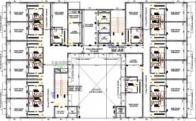 hotel floor plan dwg flooring hotel architecture layout and structure details dwg file