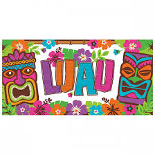 luau party luau party banner 65in wally s party factory