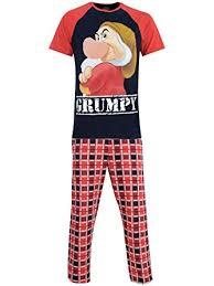 disney grumpy mens grumpy pyjamas co uk clothing