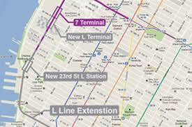 Train Map New York by Here Now A Left Field Proposal For An L Train Extension Curbed Ny