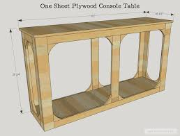 Plywood by Diy One Sheet Plywood Console Table