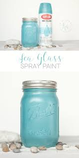 get the seaglass look with sea glass spray paint and frosted glass