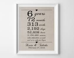 6th anniversary gifts for him 6 years together 6th anniversary gift for him linen gift
