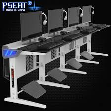 Furniture Row Desks Pseat Gaming Table Single Row Modern Game Desk Entertainment