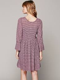 free people fp beach womens jess dress in purple lyst