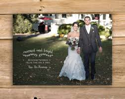 newly wed christmas card we wish you a married christmas wedding christmas card