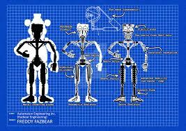 freddy fazbear blueprint with endoskeleton by freddyfredbear on