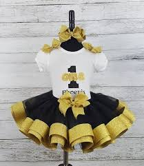 black and gold ribbon couture black gold personalized name age ribbon birthday tutu