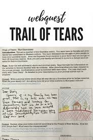 quiz worksheet the trail of tears and indian removal act lesson