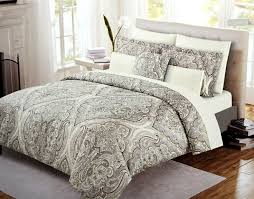 Moroccan Bed Set Cynthia Rowley Boho Chic Bedding Taupe Grey Bohemian Paisley Salma