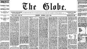 brown s day the globe on confederation day read the print of george