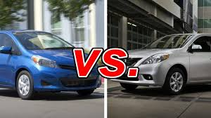 toyota yaris vs corolla comparison toyota yaris vs nissan versa carsdirect