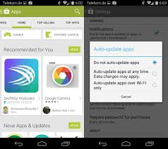 how to turn auto update on android how to turn notifications for app updates on play