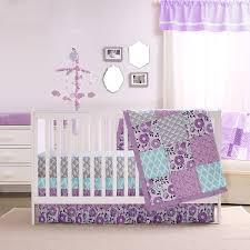 Purple And Aqua Crib Bedding Zoe Crib Bedding Set