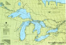 Wisconsin Lakes Map by Great Lakes Map Remembering Letters And Postcards