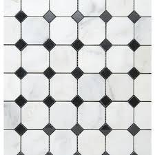 beltile honed white 2 octagon with black dot 2