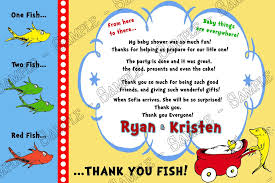 baby shower thank you cards novel concept designs dr seuss one fish two fish baby shower