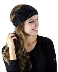 knitted headbands sparkle knitted headband with flower hb007