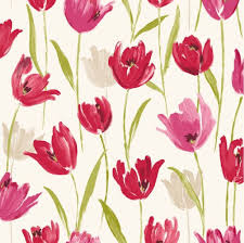 new luxury tulip floral flowers leaf print 10m wallpaper roll