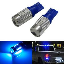 Led Light Bulbs For Car Interior by Amazon Com Ijdmtoy 2 Sparking Blue 10 Smd 921 912 920 168 T10