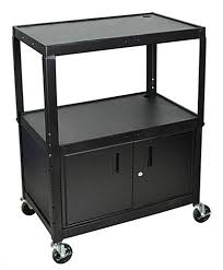 multimedia cart with locking cabinet multi media cart w double door cabinet that locks