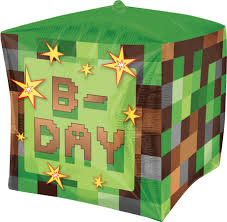 minecraft balloons minecraft 4 sided cube large foil balloon party supplies canada