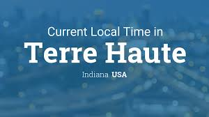 Indiana Time Zone Map by Current Local Time In Terre Haute Indiana Usa