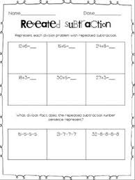 ideas collection division as repeated subtraction worksheets free