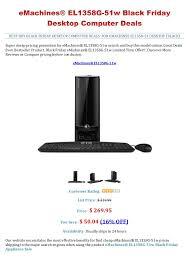 black friday desktop computer deals e machines el1358g 51w black friday desktop computer deals