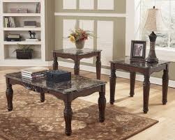 amazon com ashley furniture signature design north shore amazon com ashley furniture signature design north shore occasional table set end tables and coffee table 3 piece rectangular dark brown with