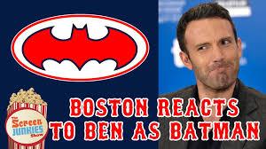 Affleck Batman Meme - ben affleck as batman boston fans react youtube