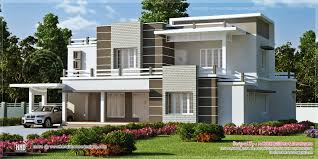 sq ft modern flat roof house kerala home design and floor wondrous