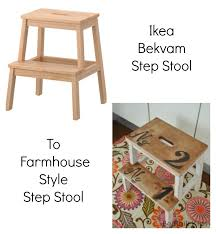 ikea hack farmhouse style step stool beatnik kids