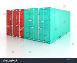 bright red blue clean metal freight stock illustration 209624080
